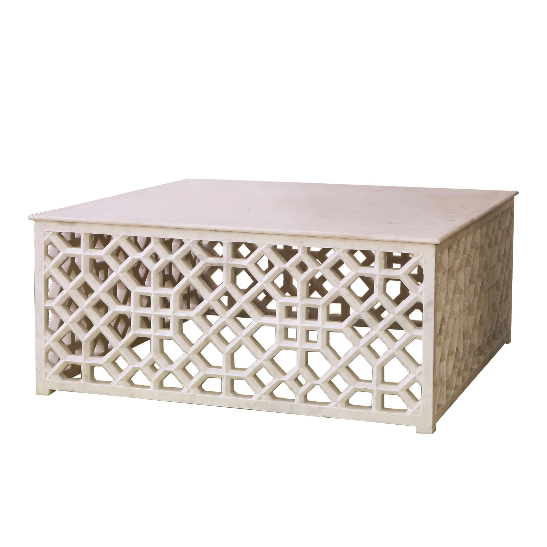 Fretwork Coffee Table.A6 9 91789 Marble Fretwork Coffee Table