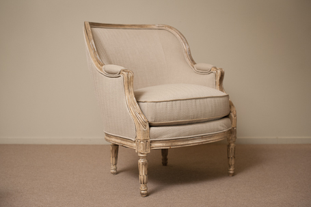 C7:3112-03SW-501-237 Protégé Tub Chair with white wash frame and ...